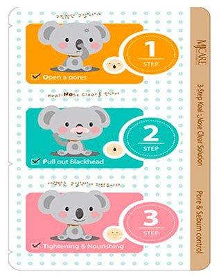 Step Koala Nose Clear Solution MijinMijin<br>Избавиться от черных точек на носу всего за один раз теперь стало возможным. Эти патчи быстро и эффективно очищают кожу, проникая в самые глубокие слои.<br>        <br>Косметические пластыри (они же патчи) 3-Step Koala Nose Clear Solution призваны избавить вас от черных точек и глубоких пор. Нелегкая задача, но продукт справляется с ней на отлично. Видимые изменения появляется сразу после использования патча - поры сужаются до невидимых постороннему глазу размеров, кожа словно молодеет на глазах, выглядит более ухоженной. Средство очищает от загрубевших клеток и производит глубокий очищающий эффект.<br>На пути к красивой коже лица всего 3 шага.Раз - на предварительно очищенную кожу наносим патч и отсчитываем 10-15 минут. За это время средство раскроет поры и уничтожит угри и сальные отложения. Остается только снять и убрать загрязнения.Два - а теперь намочим кожу и плотно прижмем к ней патч, ждем положенное время и избавляемся от ороговелых клеток и угрей.Три - охлажденный в холодильнике пластырь наносим все на тоже время и радуемся после применения суженным порам и свежему виду.<br>Всего три шага и черных точек в вашей жизни как не бывало!<br><br>Линейка: Step Koala Nose Clear Solution Mijin<br>Объем мл: 7<br>Пол: Женский
