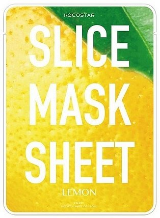 Slice Mask Sheet Lemon KocostarKocostar<br>Маски в виде кружочков лимона, пропитаны экстрактом лимона.&amp;nbsp;Маски оказывают увлажняющее и тонизирующее действие, обладают способностью отбеливать кожу, выравнивая ее тон и избавляя от пигментных пятен, уменьшая проявление купероза. Благодаря экстракту лимона маски ускоряют кровообращение и уменьшают отечность кожи, оказывают противовоспалительное действие и способствуют заживлению раздражений.<br>        <br>Лето &amp;ndash; замечательная пора, когда сонные и ароматные ягоды, овощи и фрукты становятся частыми гостями на столе, а также используются в качестве натурального ухода за кожей лица и тела. Они наполняют кожу витаминами и микроэлементами, тонизируют, укрепляют, омолаживают, восстанавливают, отбеливают. Нет ничего лучше масок, приготовленных из свежих и сочных фруктов или ягод! Однако не всегда есть эти продукты под рукой, а зимой в них пользы не так много, как хотелось бы.<br>Эффективной заменой натуральным маскам станут маски-слайсы от Kocostar. Принципиально новый подход к дизайну тканевых масок &amp;ndash; средства, воспроизводящие форму и аромат настоящих овощей и фруктов. Маски-ломтики огурца, помидора или лимона подарят коже полноценный уход, а также поднимут настроение во время использования.<br>KOCOSTAR Slice Mask Sheet Cucumber - маски в виде кружочков лимона, пропитаны экстрактом лимона.&amp;nbsp;Маски оказывают увлажняющее и тонизирующее действие, обладают способностью отбеливать кожу, выравнивая ее тон и избавляя от пигментных пятен, уменьшая проявление купероза. Благодаря экстракту лимона маски ускоряют кровообращение и уменьшают отечность кожи, оказывают противовоспалительное действие и способствуют заживлению раздражений.<br>Выполнены маски из материала тенсел. Это&amp;nbsp;материал натурального происхождения, изготовленный с применением нанотехнологий из древесины австралийского эвкалипта. Материал экологически чистый, свободный от пестицидов, обладает повышенной гигроскопичностью и прочност