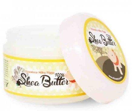Piggy Крем-бальзам с маслом ши 100% Shea Butter Elizavecca 88 мл (жен)