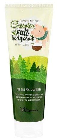 Greentea salt Body scrub ElizaveccaElizavecca<br>Скраб&amp;nbsp;очищает кожу от отмерших клеток и загрязнений, мягко шлифует и полирует кожу, делает её гладкой, улучшает тонус, а также является прекрасной профилактикой целлюлита.<br>        <br>Кожа тела, как и кожа лица, требует тщательного очищения. Устроить процедуру эффективного пилинга можно и в домашних условиях, с помощью специального скраба. В состав такого средства входят твёрдые абразивные частицы и основа, удерживающая их вместе.<br>Скраб&amp;nbsp;очищает кожу от отмерших клеток и загрязнений, мягко шлифует и полирует кожу, делает её гладкой, улучшает тонус, а также является прекрасной профилактикой целлюлита.<br>В качестве абразивных частиц (эксфолиантов) в скрабе Elizavecca Greentea Salt Body Scrub используется&amp;nbsp;морская соль. Ее богатый химический состав с невероятным количеством микроэлементов и минералов благотворно воздействует на состояние кожи. Соль улучшает кровообращение и эластичность кожи и тканей, ускоряет обменные процессы, снижает уровень стресса. Также она обладает абсорбирующим свойством, выводит загрязнения и токсины, снимает отечность, улучшает микроциркуляцию крови и способствует разглаживанию кожи.<br>Экстракт зеленого чая&amp;nbsp;в составе скраба увлажняет и питает кожу, оказывает противовоспалительное и регенерирующее действие, стимулирует синтез собственного коллагена кожи. Компоненты зеленого чая обладают хорошей проникающей способностью, поэтому воздействуют на самые глубокие слои эпидермиса. Зеленый чай &amp;ndash; мощный природный антиоксидант, защищает кожу от негативного воздействия свободных радикалов.<br>Способ применения: нанести на влажную кожу круговыми массажными движениями, помассировать 2-3 минуты, пока соль не растает, затем смыть теплой водой.<br><br>Линейка: Greentea salt Body scrub Elizavecca<br>Объем мл: 300<br>Пол: Женский