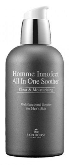 Homme Innofect Control Skin The Skin HouseThe Skin House<br>Это средство создавалось целенаправленно для кожи мужчин, помогает освободить от омертвевших частиц, сделает ровнее поверхность эпителия, питает глубинные ткани эпидермиса, помогает избавиться от чрезмерного жирного блеска и приводит в норму работу кожной секреции, успокаивает чувствительный тип, склонный к проявлению аллергических реакций. Кожный покров у мужчин имеет несколько важных отличий от женского, поскольку более сухой, и в то же время выделяет гораздо большее количество себума, и для него требуется гораздо более активное увлажнение, чтобы предупредить появление обезвоженности и загрубения. Эта серия направлена на успокаивание, а также на регулирование выделения кожного жира, поскольку излишки его и становятся причиной возникновения несовершенств, таких, как прыщики, расширенные поры. Содержит также витамин К, экстракт мальвы и тимьяна, олеиновую, аскорбиновую, кофеиновую кислоты. Этот комплекс необходим для регулирования гидробаланса и оздоровления эпидермиса. В результате расширенные поры становятся более незаметными, восстанавливается нужный уровень влаги. Дерма смягчается, успокаивается, выглядит посвежевшей и здоровой, пропадает излишний блеск. Улучшается эластичность и исчезает чувство дискомфорта и стянутости, проходят воспаления и раздраженность после бритья.<br>Способ применения: нанесите тоник на очищенную кожу лица руками или используйте ватный диск. Осуществите легкий массаж, несильно похлопывая ладонями по коже. Дайте впитаться.<br>Подходит для: кожи, склонной к жирному блеску.<br>Состав: вода, спирт, экстракт лёсса, бутиленгликоль, гиалуронат натрия, глицерин, пантенол, ПЭГ-40 гидрогенизированное касторовое масло, аллантоин, экстракт цветков жимолости японской, экстракт плодов томата, экстракт лилии тигровой, экстракт семян лотоса орехоносного, экстракт цветков хризантемы индийской, экстракт листа алоэ барбадосского, гидролизованный коллаген, экстракт ягод каму-каму, экстракт плодов а