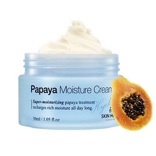 Hydra Papaya Moisture Cream The Skin HouseThe Skin House<br><br>Крем с экстрактом папайи увлажняет глубокие слои дермы и насыщает кожу необходимыми витаминами. Натуральный экстракт зеленого чая и алое Вера смягчают и успокаивают кожу. эстракт гуаравы, бамбука и ацеролы питают кожу витаминами и минералами. Экстракт папайи &amp;ndash; главный компанент крема содержит особый фермент папайин, который оказывает детокс &amp;ndash;эффект на клетки, а так же обладает кератолическим действием, способсвуя мегкому отшелушиванию клеток кожи и препятсвуя закупорке сальных протоков. Так же в состав крема входит ряд редких лекартсвенных растений, таких как экстракт растений эдельвеca, мальвы (создает на коже защитный барьер и продотвращает излишнюю жирность кожи) , буддлея лекартсвенная (защищает кожу от свободных радикалов), иссоп (антибактериальное действие) , экстракт ромашки лекарстсвенной (успокаивающее действие) . Крем с папаей не содержит искуственных красителей, парабенов и спирта, подходит даже для очень чувствительной кожи.<br>Способ применения: нанесите небольшое количество крема на лицо на последнем этапе ухода за кожей. Дайте впитаться.<br>Подходит для: нормальная, сухая, чувствительная кожа.<br>Состав: вода, бутиленгликоль, метил глюкозы сесквистеарат, лецитин, глицерил стеарат, каприлик/каприловый триглицерид, гиалуроновая кислота, глицерин, циклометикон, диметикон/винил диметикона кроссполимер, бис-ПЭГ 18 метиловый эфир диметиловый силан, глицерил стеарат, ПЭГ-100 стеарат, пропиленгликоль, бетаин, сорбитан сесквиолеат, сорбитан изостеарат, ПЭГ-10 диметикон, бутиленгликоль, вода, метил глюцет-20, феноксиэтанол, ППГ-26-бутет-26, гидрогенизированный лецитин, церамид 3, ТЭА-кокоил глутамат, каприлик/каприловый триглицерид, метилпарабен, ароматизатор.<br><br>Линейка: Hydra Papaya Moisture Cream The Skin House<br>Объем мл: 30<br>Пол: Женский