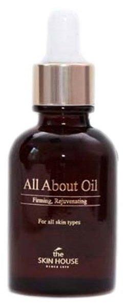 All About Oil The Skin HouseThe Skin House<br>?В составе косметического масла для повышения упругости исключительно натуральные ингредиенты. Оно продлевает молодость, возвращает эластичность Вашей коже.<br>        <br>?В составе косметического масла для повышения упругости исключительно натуральные ингредиенты. Масло содержит:<br><br>витамины Е и А, незаменимые при увядании дермы. Продлевает молодость, возвращает эластичность.<br>мононенасыщенные жиры значительно улучшают состояние. Помогает удержать влажность, не забивает поры. Усиливает клеточную регенерацию, омолаживает.<br>пенник луговой восстанавливает и увлажняет, создает защиту от ультрафиолетовых лучей.<br>шиповник приостанавливает клеточное увядание, нормализует окислительные процессы в тканях. Содержит множество витаминов и микроэлементов, важных для здоровья. Высокое число антиоксидантов замедляет старение и разглаживает морщинки. Стимулирует вырабатывание коллагена, оказывает антимикробное воздействие.<br>макадамия снимает воспаления, насыщает влагой. Проводит питательные компоненты в глубинные слои, мощный антивозрастной продукт.<br>эму заживляет ранки, питает. Усиливает регенерацию, омолаживает. Ранозаживляющее и противовоспалительное действие. Существенно уменьшает количество и глубину морщин, предотвращает появление новых. Способствует улучшению при лечении кожных заболеваний и после операций. Лечит угри и экзему. Убирает растяжки, дарит упругость. Спасает при солнечных ожогах.<br><br>Способ применения: нанести необходимое количествово на очищенную кожу, дать впитаться.<br>Подходит для: чувствительная, проблемная, обезвожженная кожа.<br>Состав: минеральное масло, масло плодов оливы европейской, октилдодеканол, масло семян пенника лугового, полибутилен, фитосквалан, циклометикон, сорбитан сесквиолеат, каприлик/каприловый триглицерид, масло плодов шиповника, масло ореха макадамии, ароматизатор, токоферилацетат, жир страуса эму, бутилгидрокситолуол.<br><br>Линейка: All About Oil The Skin House<br>Объем 
