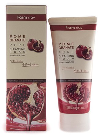 Pomegranate Pure Cleansing Foam FarmStayFarmStay<br>Пенка для умывания с экстрактом граната создает богатую пену, эффективно очищает кожу от мертвых клеток кожи, ежедневных загрязнений, следов макияжа. Сохраняет и поддерживает оптимальный уровень увлажнения и сохраняет гидро-липидный баланс.<br>        <br>Пенка для умывания с экстрактом граната создает богатую пену, эффективно очищает кожу от мертвых клеток кожи, ежедневных загрязнений, следов макияжа.Сохраняет и поддерживает оптимальный уровень увлажнения и сохраняет гидро-липидный баланс. Не содержит парабенов и консервантов, феноксиэтанола, бензиловых спиртов, триэтаноламина, этанола, талька, отдушек. Экстракт граната стимулирует образование аквапоринов (каналов активного переноса воды - играющих важнейшую роль в поддержании оптимального количества влаги в коже), обладает противовоспалительной активностью, ускоряет регенерацию, заживление тканей; обладает антиоксидантным потенциалом, уменьшает трансэпидермальную потерю влаги кожей, восстанавливая ее барьерные свойства.&amp;nbsp;Способ применения: Небольшое количество средства вспеньте с водой. Нанесите, полученную пену на влажную кожу лица массажными движениями, помассируйте в течение 1-2 минут. Смойте теплой водой.Меры предосторожности: избегать попадания в глаза, в случае несовместимости с кожей прекратите использование.&amp;nbsp;Состав: Water, Stearic Acid, Myristic Acid, Cocamidopropyl Betaine, Potassium Hydroxide, Glycerin, Laurie Acid, Lauramide DEA, Glyceryl Stearate, PEG-100 Stearate, Phenoxyethanol, Egg Yolk Extract, Methylparaben, Propylparaben, Disodium EDTA, Diospyros Kaki Leaf Extract, Jasminum Officinale (Jasmine) Extract, Aloe Barbadensis Leaf Extract, Fragrance.<br><br>Линейка: Pomegranate Pure Cleansing Foam FarmStay<br>Объем мл: 180<br>Пол: Женский