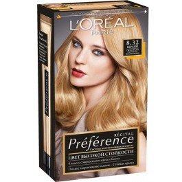 Preferance  L`orealLOreal<br>Производство: Великобритания Высокая стойкость Лореаль Преферанс обеспечивается тем, что молекулы красящих веществ имеют больший, чем обычно размер. Благодаря своим габаритам молекулы лучше удерживаются в структуре волоса. Кроме того, в комплекте с краской идет  специальный бальзам для укрепления и защиты цвета. Он так же сделает ваши волосы мягкими и шелковистыми. Бальзама много и хватит не на одно применение.<br>        <br>Легендарная краска Preference от LOreal Paris - премиальное качество окрашивания! В ее разработке приняли участие эксперты из лабораторий LOreal Paris и профессиональный колорист Кристоф Робин. Более объемные красящие вещества Preference дольше удерживаются в структуре волоса, обеспечивая совершенный стойкий цвет. Уникальная технология против вымывания цвета и комплекс Экстраблеск подарят насыщенный цвет и великолепный блеск в течение 8 недель.Способ применения:<br><br>Снимите ювелирные украшения.<br>Чтобы избежать окрашивания кожи, нанесите увлажняющий крем по контуру лица.<br>Проведите тест на кожную аллергию.<br>Перед применением ознакомьтесь с инструкцией.<br><br>Состав: упаковка содержит: 1 тюбик с гель-краской (60 мл) 1 флакон-аппликатор с проявляющим кремом (90 мл) 1 бальзам усилитель цвета (54 мл) 1 инструкция 1 пара перчаток СОСТАВ: гель-краска 1180168 aqua / water ;alcohol denat. ;peg-4 rapeseedamide ;glyceryl lauryl ether ;deceth-3 ;propylene glycol ;laureth-5 carboxylic acid ;ethanolamine ;dipropylene glycol ;hexylene glycol ;ammonium hydroxide ;poloxamer 338 ;1-hydroxyethyl 4,5-diamino pyrazole sulfate ;oleyl alcohol ;4-amino-2-hydroxytoluene ;5-amino-6-chloro-o-cresol ;hydroxypropyl bis(n-hydroxyethyl-p-phenylenediamine) hcl ;thioglycerin ;toluene-2,5-diamine ;ammonium thiolactate ;edta ;bht ;erythorbic acid ;parfum / fragrance; C180090/1 проявляющий крем 437047 aqua / water, hydrogen peroxide, cetearyl alcohol, sodium stannate, trideceth-2 carboxamide mea, pentasodium pentetate, phosphoric acid, cetea