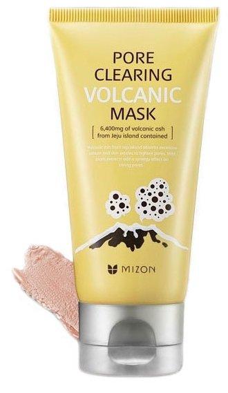 Pore Clearing Volcanic Mask MizonMizon<br>Маска с вулканическим пеплом для глубокой очистки пор Mizon Pore Clearing Volcanic Mask. Пепел отлично абсорбирует загрязнения и избыточный кожный жир с поверхности кожи, а также, он помогает контролировать работу сальных желез. Маска помогает успокоить, освежить лицо и сузить непослушные поры, чтобы Ваше лицо было чистым и ровным долгое время.<br>        <br>Mizon Pore Clearing Volcanic Mask &amp;ndash; для ухода за жирной, проблемной кожей с расширенными порами и черными точками.<br>Органическая формула маски в своем составе имеет вулканический пепел, который добывается на острове Чеджу. Глина и вулканический пепел нежно очищают даже самые глубокие поры, абсорбируя излишки кожного жира и растворяя загрязнения.&amp;nbsp;Белая и голубая глина, отшелушивая ороговелые клетки кожи, питают её минералами, восстанавливают, снимают зуд и раздражения.&amp;nbsp;Экстракты лекарственных растений обладают тонизирующими, увлажняющими омолаживающими свойствами. Натуральные компоненты, входящие в состав маски, разглаживают мелкие морщинки, выравнивают микрорельеф кожи. Кожа приобретает эластичность и упругость. Маска обладает отбеливающим эффектом, матирует кожу, устраняет жирный блеск.<br>Поры кожи сужаются, чёрные точки исчезают. Кожа становится мягкой, бархатистой, сияющей красотой.<br>Маска имеет плотную консистенцию, но при этом легко наносится на кожу. Также легко смывается после использования.<br>Активные компоненты:<br><br>вулканические пепел,<br>белая глина,<br>голубая глина,<br>экстракты растений (папайя, гипсофила метельчатая, листья зелёного чая, сосна густоцветная, плющ, сладкий миндаль, ирис флорентийский, корень солодки, кора белой ивы),<br>гидролизированный протеин пшеницы,<br>масло семян моркови,<br>гиалуроновая кислота,<br>аллантоин.<br><br>&amp;nbsp;Не содержит парабена, этанола, искусственных отдушек и ароматизаторов.<br>Создана для жирной, проблемной, пористой кожи.<br>Способ применения:&amp;nbsp;после умывания и очище