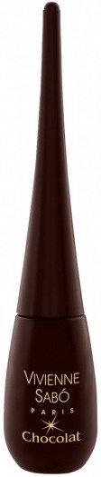 Chocolat  Vivienne SaboVivienne Sabo<br>Производство: Франция Цветная жидкая подводка с ультраточным фетровым аппликатором позволяет легко нанести четкую линию насыщенного цвета. Эта эффектная подводка для глаз, которая совмещает самые лучшие качества карандаша (такие, как точность) и жидких средств для макияжа (гладкость и стойкость цвета), подчеркивает уникальный образ и выражает индивидуальность стиля.<br>Подводка имеет заостренный кончик для большей четкости нанесения. Быстро сохнет и не смазывается! Средство могут использовать те, кто носит контактные линзы.<br>Способ применения:&amp;nbsp;начните проводить линию от внутреннего угла глаза к внешнему так, чтобы кисточка шла точно вдоль основания ресниц. Для создания экзотического облика продлите линию за пределы века.<br><br>Линейка: Chocolat  Vivienne Sabo<br>Пол: Женский