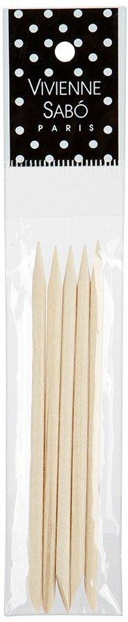 Manicure Sticks Set Vivienne SaboVivienne Sabo<br>Производство: Франция Палочки для маникюра деревянные Vivienne Sabo - удобный инструмент для удаления отросших кутикул, которые препятствуют росту ногтей.&amp;nbsp;Палочки для маникюра используются для отодвигания и удаления кутикулы, для нанесения на ноготь мелких предметов декора.<br>Миниатюрные удобные палочки из апельсинового дерева станут вашим&amp;nbsp;незаменимым аксессуаром для маникюра.&amp;nbsp;<br>Апельсиновое дерево, из&amp;nbsp;которого изготовлены палочки для маникюра, обладает антисептическими свойствами, что делает их&amp;nbsp;незаменимым инструментом в&amp;nbsp;комплексе со&amp;nbsp;средством для удаления кутикулы Bon Elexir. После нанесения этого средства, через 2-3 минуты отодвиньте кутикулу деревянной палочкой<br><br>Линейка: Manicure Sticks Set Vivienne Sabo<br>Пол: Женский