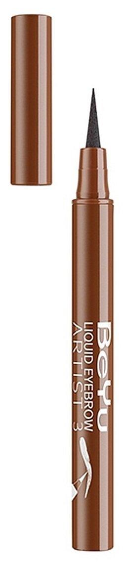 Liquid Eyebrow Artist  beYubeYu<br>Производство: Германия С помощью фломастера для бровей Liquid Eyebrow Artist от BeYu вы сможете быстро заполнить брови натуральным цветом либо добавить большего драматизма со вторым слоем. Формула позволяет избежать неприятного эффекта липкости и шелушения. Она быстро высыхает и не сползает в течение дня.<br>        <br>Немецкий производитель качественной косметики BeYu не перестает удивлять очаровательных леди! На этот раз компания представила потрясающую бьюти-новинку &amp;ndash; жидкую подводку для бровей BeYu Liquid Eyebrow Artist, которая позволит красиво и аккуратно подкорректировать форму и толщину бровей. Известно, что правильно скорректированная форма бровей преображает внешность, придает образу особой выразительности и шарма: взгляд становится более глубоким и ярким. Жидкая подводка от BeYu - универсальная, позволяет прорисовывать четкие штрихи чтоб создать эффект натуральных волосков.<br>Средство легко наносится на кожу, определяет и фиксирует форму бровей, выравнивает тон и великолепно реконструирует цветовые недостатки. Подводка мгновенно высыхает и держится больше 12 часов. Продукт разработан с применением природных пигментов, поэтому, подводка BeYu Liquid Eyebrow Artist абсолютно безопасна для глаз.<br>Способ применения: выберете необходимый для ваших бровей шаблон, приложите шаблон к бровям и зафиксируйте указательным и большим пальцем. Захватите немного подводки аппликатором, и нанесите точно по вырезу шаблона. Проделайте то же самое с другой бровью, предварительно перевернув шаблон и очистив его от остатков подводки.<br>Состав: aqua (water), butylene glycol, peg-60 hydrogenated castor oil, styrene/acrylates/ammonium methacrylate copolymer, coco-glucoside, phenoxyethanol, potassium sorbate, disodium edta, citric acid, sodium laureth-12 sulfate, methylparaben, propylparaben, ammonium hydroxide, tetrasodium edta, iodopropynyl butylcarbamate, [+/- (may contain) ci 15985 (yellow 6), ci 16035 (red 40), ci 19140 (yellow 