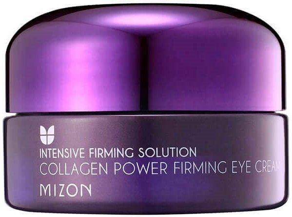 Collagen Power Firming Eye Cream MizonMizon<br>Содержит органическое масло, коллаген - 42%.<br>Крем обеспечивает максимальную защиту клеток кожи в области глаз от губительного действия свободных радикалов, которые являются неизбежными спутниками старения, стрессов, солнечных лучей и неблагоприятных факторов внешней среды.<br>Смягчает, освежает и придает чувство комфорта.<br>Mizon Collagen Power Firming Eye cream:<br><br>способствует подтяжке и выравниванию кожи в области глаз,<br>избавляет от следов усталости и стресса,<br>устраняет отеки,<br>темные круги под глазами,<br>повышает упругость и тургор кожи.<br><br>Благодаря высокому содержанию коллагена крем активно укрепляет кожу вокруг глаз, повышает ее прочность, восстанавливает влагоудерживающие структуры эпидермиса и разглаживает мелкие морщинки.<br><br>Гидролизированный коллаген (42%) &amp;ndash; активный коллаген, максимально усваивающийся организмом. Это структурный белок, обеспечивающий эластичность кожи, а также обладающий ярко выраженными увлажняющими способностями. Придает коже эластичность, повышает тургор, разглаживает мелкие морщины, обеспечивает мгновенный лифтинг-эффект. Медь трипептид-1 &amp;ndash; инновационный активный ингредиент способствует выработке коллагена, борется со свободными радикалами, ускоряет заживление ран и ремоделирование кожи после пилингов и других косметических процедур, уменьшает воспаление и повышает активность антиоксидантных ферментов. Наиболее интересной особенностью трипептида является его способность восстанавливать жизнеспособность стволовых клеток кожи. В результате уменьшается глубина морщин, повышается упругость и эластичность кожи, сглаживаются шрамы и другие дефекты кожи, значительно повышается эффективность других косметических процедур.<br>Аденозин&amp;nbsp;&amp;ndash; благодаря своей способности замедлять процессы старения, широко используется в антивозрастной косметике, способствует разглаживанию морщин путем увеличения производства коллагена и эластина в коже.<br