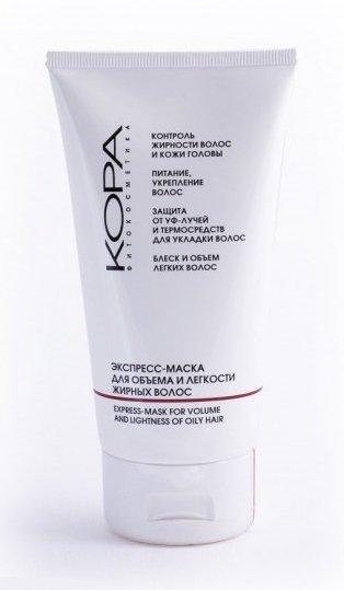 KoraKora<br>Производство: Россия &amp;lt;p&amp;gt;Маска нормализует деятельность сальных желез, уменьшая излишнюю жирность кожи головы и волос, обладает очищающим, увлажняющим свойствами.&amp;nbsp;&amp;lt;/p&amp;gt;.<br>        <br>Маска нормализует деятельность сальных желез, уменьшая излишнюю жирность кожи головы и волос, обладает очищающим, увлажняющим свойствами. Питает, укрепляет волосяные луковицы, способствует восстановлению поврежденных участков как на поверхности, так и внутри волоса, насыщает кожу головы кислородом, улучшает микроциркуляцию, придает волосам объем и легкость. Помогает устранить перхоть и предотвращает ее дальнейшее появление, успокаивает и освежает кожу головы. Защищает волосы от вредного воздействия внешних факторов, УФ-лучей, термосредств для укладки волос.<br>Способ применения: вымойте волосы шампунем.&amp;nbsp;Нанесите маску на влажные волосы.&amp;nbsp;Через 1&amp;ndash;3 мин смойте теплой водой.&amp;nbsp;Формула маски позволяет использовать ее как бальзам после мытья волос. Подходит для частого применения.<br>Состав: биосера, кератин, zinc PCA, гидролизат коллагена, пантенол, бетаин, протеины сладкого миндаля, крапива, чабрец, аир, хмель, конский каштан, соки киви, апельсина, грейпфрута яблока, масло миндальное.<br><br><br>Линейка: Kora<br>Объем мл: 150<br>Пол: Женский