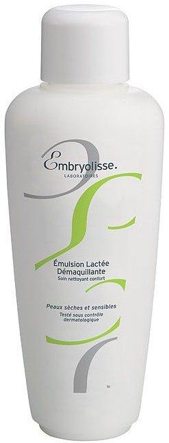 Milky Make-Up Removal Emulsion EmbryolisseEmbryolisse<br>Производство: Франция Мягкий очищающий уход для сухой и чувствительной кожи<br>Легкая эмульсия нежно снимает макияж и увлажняет кожу, входящие в состав натуральные ингредиенты, питают, смягчают и успокаивают. Сухая и чувствительная кожа будет полностью очищена, кремовая текстура эмульсии дарит ощущение комфорта и безупречной чистоты.<br>Способ применения: наносите на кожу лица и шеи лёгкими массажными движениями утром и вечером, затем обработайте кожу лосьоном-тоником.<br>Состав:Aqua, Paraffinum Liquidum, Stearic Acid, Glyceryl Stearate, Triethanolamine, Cera Alba, Cetyl Palmitate, Butyrospermum Parkii, Steareth-10, Propylene Glycol, Hydrolyzed Soy Protein, Aloe Barbadensis, 1,2-Hexanediol, Caprylyl Glycol, Tropolone, Parfum.<br><br>Линейка: Milky Make-Up Removal Emulsion Embryolisse<br>Объем мл: 200<br>Пол: Женский