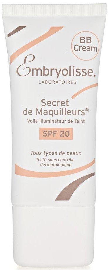 B Крем Complexion Illuminating Veil EmbryolisseEmbryolisse<br>Производство: Франция Для всех типов кожи.<br>ВВ Крем заставляет Вашу кожу сиять после первого же применения!&amp;nbsp;Выравнивает структуру кожи, скрывая мелкие морщинки и поры, маскирует недостатки кожи благодаря матирующему эффекту, содержит светоотражающие минеральные частицы и пигментные частицы, способные подстраиваться под цвет кожи.<br>Гиалуроновая кислота активно увлажняет кожу, делая ее мягкой и нежной. Защитные компоненты оберегают от действия свободных радикалов и ультрафиолетовых лучей, эффективны в&amp;nbsp;&amp;nbsp;борьбе с возрастными изменениями.<br><br>Роскошный естественный эффект: ровный цвет кожи и невероятная мягкость.&amp;nbsp;<br>Универсальный оттенок.<br><br>Активные компоненты:&amp;nbsp;UV фильтр, витамин E, гиалуроновая кислота.<br>Способ применения:&amp;nbsp;наносить в качестве самостоятельного средства! Используйте в качестве увлажняющего средства, как тональную основу или тональный крем для всего лица или же только в определённых зонах. Прекрасно скрывает все недостатки кожи.<br><br>Линейка: B Крем Complexion Illuminating Veil Embryolisse<br>Пол: Женский