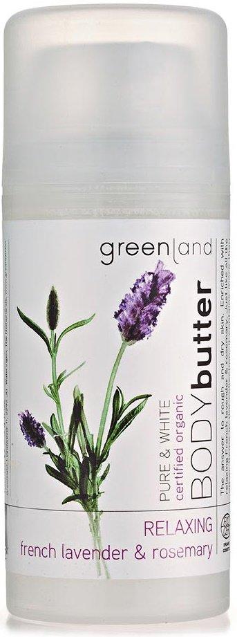 Pure&amp; White GreenlandGreenland<br>Производство: Нидерланды Крем для телаФранцузская Лаванда-Розмарин глубоко увлажняет кожу, питает ее полезными веществами и дарит мягкость. Он способствует повышению эластичности кожи, а также дарит свой глубокий аромат, который привлекает внимание окружающих.<br>        <br>Линия Pure &amp;amp; White представлена несколькими ароматами, среди которых особое место занимает Французская Лаванда-Розмарин. Сочетание этих прекрасных ароматов дарит Вам спокойствие, гармонизирует и помогают сбалансировать Ваше внутреннее и внешнее Я.<br>Крем для тела Французская Лаванда-Розмарин глубоко увлажняет кожу, питает ее полезными веществами и дарит мягкость. Он способствует повышению эластичности кожи, а также дарит свой глубокий аромат, который привлекает внимание окружающих.<br>Французская лаванда и розмарин дают спокойствие и равновесие Вашей коже. Крем для тела глубоко увлажняет и питает кожу, делая ее более эластичной. Все продукты серии Pure &amp;amp; White отмечены сертификатом органической косметики Ecocert, что подтверждает ее органическое происхождение.&amp;nbsp;<br>Способ применнеия: наносить крем на сухую чистую кожу тела легкими массажными движениями.&amp;nbsp;<br>Состав: Aqua (Water), Butyrospermum Parkii (Shea) Butter, Cetearyl Alcohol, Helianthus Annuus (Sunflower) Hybrid Oil, Caprylic/Capric Triglyceride, Glycerin, Theobroma Cacao (Cocoa) Seed Butter, Cetyl Alcohol, Cetearyl Glucoside, Sodium Benzoate, Xanthan Gum, Potassium Sorbate, Citric Acid, Parfum (Fragrance), Tocopherol, Limonene, Linalool, Aloe Barbadensis Leaf Juice, Citral, Geraniol, Citronellol, Coumarin.<br><br>Линейка: Pure&amp; White Greenland<br>Объем мл: 100<br>Пол: Женский