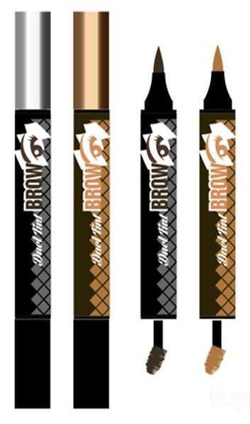 Oops Dual Tint Brow  BerrisomBerrisom<br>Двусторонний тинт для бровей обладает эффектом татуажа, поможет сохранить идеальный вид ваших бровей, придаст им форму, скорректирует цвет. Результат от такого преображения сохранится максимально долгое время.<br>        <br>Oops Dual Tint Brow &amp;ndash; тинт для бровей, помогающий скорректировать их форму и придать им более четкие очертания. Удобный аппликатор прокрашивает каждый волосок, независимо от длины. Укладывает в нужном направлении, придавая бровям визуальную густоту. Фиксирующий гель обволакивает волоски, предотвращая их ломкость. Особенностью средства является то, что покрытие не размазывается и не осыпается, сохраняя идеальный результат в течение длительного времени.<br>Инновационная формула деликатно ухаживает за бровями, насыщая их питательными веществами. Двухсторонний тинт для бровей улучшает форму бровей и фиксирует полученный результат.<br>Тинт представлен 2 вариантами:<br><br>01 Dark Brown &amp;ndash; темный коричневый<br>02 Light Brown &amp;ndash; светлый коричневый<br><br>Способ применения: прежде чем наносить карандаш на брови, приведите их в порядок. Выберите подходящую форму, удалите лишние волоски с помощью пинцета. Брови необходимо причесать и карандашиком нанести метки, чтобы правильно и равномерно нанести штрихи. Потом волоски причесываются щеточкой для бровей и наносятся сами штрихи по направлению роста бровей. Затем заполните промежутки бровей аккуратными уверенными движениями. Через 10-15 минут закончите свой образ с помощью щеточки, придав бровям желаемую форму.<br><br>Линейка: Oops Dual Tint Brow  Berrisom<br>Пол: Женский
