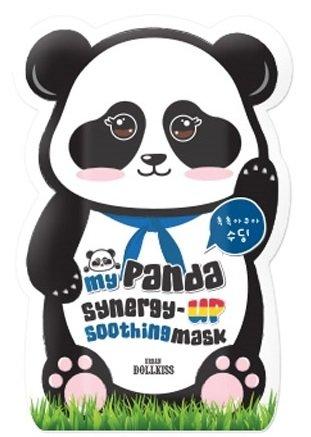 My panda synergy up shoothing mask pack BaviphatBaviphat<br>Укрепляющая маска для лица обеспечит прекрасный дополнительный уход коже. Она эффективно питает, увлажняет, насыщает кожу витаминами и успокаивает ее.<br>        <br>My Panda Synergy Up Soothing Mask Pack - это супер-уход за чувствительно кожей лица. Маска интенсивно восстанавливает клетки кожи, успокаивает и защищает от воздействия окружающей среды.<br>Формула маски содержит мощный витаминный комплекс, благодаря которому она оздоравливает кожу, улучшает цвет лица и надолго сохраняет его красоту и молодость. Содержит витамины A, C, D, E и B12, а также кальций и аминокислоты, которые также очень важны для здоровья кожи и являются структурными компонентами ее белков. Маска содержит натуральные экстракты таких известных целебных растений как алоэ вера, портулак и другие. Портулак оказывает сильное противовоспалительное и антибактериальное действие, ускоряет заживление, успокаивает раздраженную и склонную к аллергии кожу, смягчает ее. Алоэ &amp;ndash; восстанавливает, увлажняет и тонизирует кожу.<br>Способ применения: после очищения и тонизирования кожи приложите маску на 15-20 мин. Затем снимите ее, а оставшуюся эссенцию распределите по коже.<br><br>Линейка: My panda synergy up shoothing mask pack Baviphat<br>Объем мл: 30<br>Пол: Женский