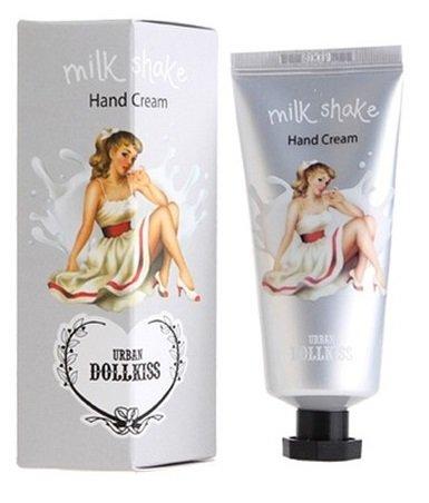 Shake молочный Dollkiss Milk Shake Hand Cream BaviphatBaviphat<br>Ухаживающий крем для рук с невесомой текстурой, покрывая кожу тончайшей легкой вуалью, защищает её от внешних агрессивных воздействий, потери влаги вследствие перепадов температур и влияния солнечных лучей. Dollkiss Shake Hand Cream образует на коже рук защитный барьер, питает витаминами, сохраняет гидробаланс. Увлажняющий крем для рук от популярного бренда Baviphat подходит для кожи любого типа. Активным компонентом данного продукта является аллантоин – это очень сильный увлажнитель, он бережно воздействует на кожу, помогая ей впитывать все полезные вещества, которые наносятся с кремом. Urban Dollkiss Milk Shake Hand Cream – это нежный молочный десерт, он имеет приятную консистенцию и изумительный запах. При регулярном применении данного продукта, кожа рук становится бархатной, мягкой и нежной. Она обретает упругость и эластичность, а все видимые морщинки разглаживаются. В состав средства входят проверенные растительные компоненты, поэтому крем не вызывает аллергических реакций. Способ применения: нанести крем на очищенную кожу рук легкими массирующими движениями. Состав: Water, Glycerin, Dipropylene Glycol , Mineral Oil, Glyceryl Stearate, Dimethicone, Cetyl Alcohol, Carbomer, Triethanolamine, PEG-100 Stearate, Methylparaben, Phenoxyethanol, Aloe Barbadensis Leaf Extract , Caprylic/Capric Triglyceride, Petrolatum, Propylparaben, Fragrance, Allantoin, Disodium EDTA, Glycyrrhiza Glabra (Licorice) Root Extract, Lilium Candidum Flower Extract, Butylene Glycol, Morus Alba Root Extract, Oryza Sativa (Rice) Bran Extract<br><br>Линейка: Shake молочный Dollkiss Milk Shake Hand Cream Baviphat<br>Объем мл: 35<br>Пол: Женский