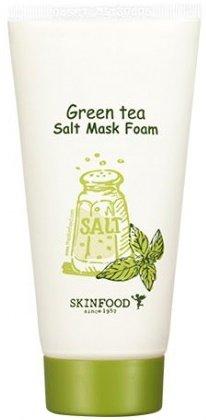 Green Tea Salt mask Foam SkinFoodSkinFood<br>Очищающая маска-пенка, которая обеспечит коже комплексный и бережный уход. Green Tea Salt Mask Foam имеет легкую текстуру, приятный запах и содержит крупинки натуральной соли. Благодаря этому очищение кожи превратится в настоящую спа-процедуру и доставит удовольствие.<br>Соль проникает глубоко в поры, вычищает из них скопившиеся загрязнения и пыль, растворяет черные точки, мягко убирает отмершие клетки и полирует кожу.<br>Green&amp;nbsp;Tea&amp;nbsp;Salt&amp;nbsp;Mask&amp;nbsp;Foam&amp;nbsp;оказывает антибактериальное действие, выводит излишки влаги и уменьшает отечность. Заметно омолаживает, подтягивает дряблые участки, устраняет появившиеся морщинки и другие признаки старения.<br>Кроме соли, пенка включает экстракт зеленого чая, который лечит воспаления, ускоряет восстановление кожи, наполняет ее живительной влагой и ценными веществами. Чай проникает глубоко в эпидермис и оказывает благотворное воздействие. Это сильнейший природный антиоксидант, который оберегает кожу от любых воздействий.<br>Если использовать пенку&amp;nbsp;от южнокорейского бренда SkinFood&amp;nbsp;регулярно, кожа станет идеально гладкой, невероятно чистой и сияющей.<br>Способ применения: вспенить средство с водой, пену нанести на кожу, слегка помассировать, после чего умыться.<br><br>Линейка: Green Tea Salt mask Foam SkinFood<br>Объем мл: 170<br>Пол: Женский