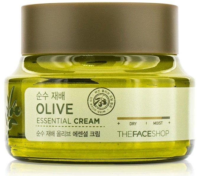 Olive Essential Cream The Face ShopThe Face Shop<br>Крем, в составе которого 100 %  органическое масло оливы – великолепное средство по уходу за любым типом кожи, но особенно рекомендуется для сухой, обветренной, склонной к шелушению и стянутости кожи, станет спасением и для увядающей кожи. Регулярное применение крема с оливковым маслом позволяет уменьшить глубину существующих морщин и предупредить появление новых, делает кожу упругой и эластичной, выравнивает рельеф кожи, улучшает цвет лица.<br>        <br>Крем, в составе которого 100 % &amp;nbsp;органическое масло оливы &amp;ndash; великолепное средство по уходу за любым типом кожи, но особенно рекомендуется&amp;nbsp;для сухой, обветренной, склонной к шелушению и стянутости кожи, станет спасением и для увядающей кожи.<br>Оливковое масло содержит необходимые для кожи витамины, в том числе, А, Е и В, мононенасыщенные жирные кислоты и другие питательные вещества. Их комплексное воздействие способствует глубокому увлажнению и смягчению кожи, оказывает успокаивающее и регенерирующее действие, защищает кожу от воздействия агрессивных внешних факторов (ультрафиолетовое излучение, сухой воздух и т.д.).<br>Регулярное применение крема с оливковым маслом&amp;nbsp;позволяет уменьшить глубину существующих морщин и предупредить появление новых, делает кожу упругой и эластичной, выравнивает рельеф кожи, улучшает цвет лица.<br>Также в составе крема масло ши, гиалуроновая кислота, пантенол и каррагинан, которые усиливают увлажняющее действие крема, способствуют удержанию влаги в коже, оказывают заживляющее и успокаивающее действие.<br>5 Free system&amp;nbsp;&amp;ndash; в составе крема НЕТ искусственных красителей, бензофенона, минеральных масел, компонентов животного происхождения, триэтаноламина.<br>Способ применения: лёгкими движениями нанести крем на очищенную кожу лица.<br><br>Линейка: Olive Essential Cream The Face Shop<br>Объем мл: 50<br>Пол: Женский
