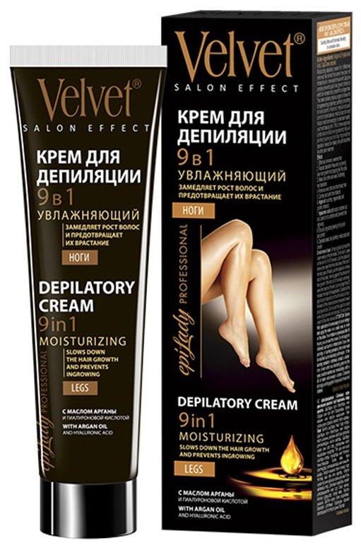 VelvetVelvet<br>Производство: Россия Увлажняющий крем для депиляции 9 в 1 эффективно удаляет волосы и в то же время не сушит кожу. Инновационная формула с комплексом Capislow замедляет рост волос, благодаря чему кожа остается шелковисто-гладкой более длительное время. Крем содержит ценное аргановое масло известное своими регенерирующими свойствами, способностью разглаживать кожу и успокаивать раздражения. Гиалуроновая кислота стабилизирует гидробаланс, увлажняет кожу и насыщает необходимой влагой для поддержания ее здоровья, молодости и красоты.<br>Это исключительное сочетание активных ингредиентов, идеально подходящее для ухода за вашей кожей во время и после депиляции, которое делает кожу шелковистой и идеально напитаной, как после салонных процедур.<br><br>Линейка: Velvet<br>Объем мл: 125<br>Пол: Женский