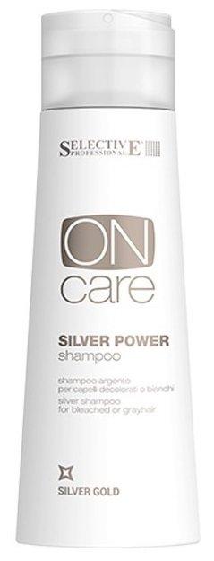 Power Shampoo - Серебряный шампунь для обесцвеченных или седых волос Selective 250 мл (жен)