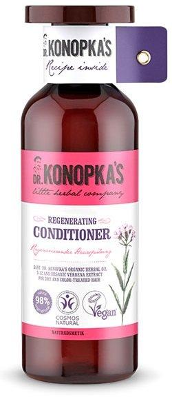 Dr.KONOPKA`SDr.KONOPKA`S<br>Натуральный сертифицированный восстанавливающий бальзам для ухода за волосами содержит масло для волос Доктора Конопка № 52, масло прошло сертификацию стандарта BDIH COSMOS Natural. Экстракт вербены способствует восстановлению, питанию, увлажнению уставших, сухих и окрашенных волос.<br>        <br>Бальзам восстанавливающий для волос DR.KONOPKA&amp;rsquo;S содержит Lippia Citriodora Flower Water &amp;mdash; цветочная вода вербены. Стимулирует рост волос, улучшает их структуру. Обладает антисептическим воздействием, повышает упругость кожи и замедляет процесс старения, способствует заживлению кожи. Нормализует секрецию сальных желез, дает дезодорирующий эффект.<br>Способ применения: нанесите на влажные волосы, оставьте на 1-2 минуты, затем смойте водой.<br>Состав: Amaranthus Spinosus Seed Oil*, Aqua, Argania Spinosa Kernel Oil*, Cetearyl Alcohol, Glycerin, Tocopherol, Benzyl Alcohol, Dehydroacetic Acid, Sodium Benzoate, Potassium Sorbate, Parfum, Citric Acid, CI 77491, Limonene, Olea Europaea Fruit Oil*, Simmondsia Chinensis Seed Oil*, Prunus Amygdalus Dulcis Oil*, Lavandula Angustifolia Oil*, Macadamia Ternifolia Seed Oil*, Citrus Limon Peel Oil*, Camellia Oleifera Seed Oil*, Citrus Aurantium Dulcis Peel Oil*, Coffea Arabica Seed Oil*, Rosa Canina Fruit Oil*, Hippophae Rhamnoides Fruit Oil*, Vitis Vinifera Seed Oil*, Persea Gratissima Oil*, Geraniol, Helianthus Annuus Hybrid Oil*, Guar Hydroxypropyltrimonium Chloride, Distearoylethyl Dimonium Chloride, Cocos Nucifera Oil*, Lippia Citriodora Flower Water*. (*) -органические ингредиенты.<br><br>Линейка: Dr.KONOPKA`S<br>Объем мл: 500<br>Пол: Женский