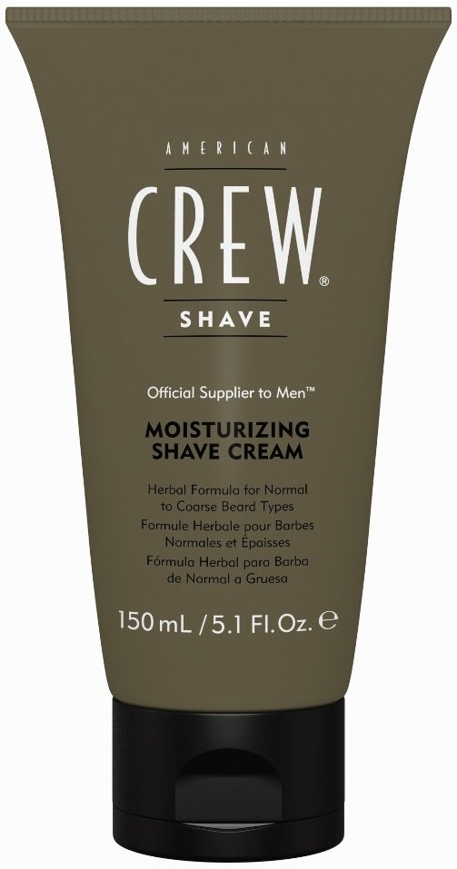 American CrewAmerican Crew<br>Производство: США Формула крема разработана на основе трав с легким эффектом холода для нормального и жесткого типа волос, подходит для чувствительной кожи.<br>Увлажняющий крем American Crew Moisturizing Shave Cream сильно облегчает зачастую мучительный процесс бритья.<br>Активные компоненты:<br><br>витамин E защищает и увлажняет кожу;<br>миндальное масло смягчает и устраняет неприятные ощущения во время бритья.<br><br>Используя данное средство от компании American Crew, мужское бритье даже способно приносить удовольствие.<br>Способ применения:<br><br>умойтесь теплой водой.<br>нанести тонкий слой геля на лицо и приготовьтесь к бритью.<br>после того, как лишни волосы будут сбриты, нанести охлаждающий лосьон после бритья American Crew Post Shave Cooling Lotion.<br>если вы хотите более тщательное бритье, рекомендуем перед нанесением American Crew Precision Shave Gel использовать масло для бритья American Crew Lubricating Shave Oil.<br><br>Состав:Water (Aqua) (Eau), Stearic Acid, Propylene Glycol, Myristic Acid, Triethanolamine, Disodium Cocoamphodiacetate, Paraffinum Liquidum, Petrolatum, Potassium Hydroxide, Aloe Barbadensis Leaf Juice, Quillaja Saponaria Bark Extract, Calendula Officinalis Flower Extract, Saponaria Officinalis Bark Extract, Melissa Officinalis Leaf Extract, Persea Gratissima (Avocado) Oil, Eugenia Caryophyllus (Clove) Flower Oil, Prunus Amygdalus Dulcis (Sweet Almond) Oil, Eucalyptus Globulus Leaf Oil, Mentha Piperita (Peppermint) Oil, Allantoin, Tocopheryl Acetate (Vitamin E Acetate), Hydroxyethylcellulose, Cocamide DEA, Stearyl Alcohol, Myristyl Myristate, Ethylhexyl Adipate/Palmitate/Stearate, Lanolin Alcohol, Dimethicone, Menthol, Fragrance (Parfum), Benzyl Alcohol, Methylparaben, Propylparaben, Diazolidinyl Urea.<br><br>Линейка: American Crew<br>Объем мл: 150<br>Пол: Мужской