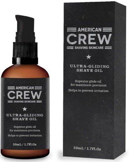 Ultra Gliding Shave Oil Crew Shaving Skincare American CrewAmerican Crew<br>Производство: США Натуральное масло от компании American Crew предназначено для применения перед процессом бритья, тем самым подготавливая кожу к раздражительному и ранящему воздействию бритвы.<br>Сочетание натуральных масел позволяет смягчать кожу, делая при этом бритье более качественным.&amp;nbsp;Экстракты розмарина и гвоздики, проникая в поры, освежают и охлаждают кожу.<br>Очищение кожи маслом помогает избавиться от омертвевших участков.<br>Способ применения: умойтесь теплой водой, затем нанести тонкий слой масла American Crew Lubricating Shave Oil массажными движениями на лицо. После данного приготовления можете спокойно приступать к бритью.<br>Состав:Limnanthes Alba (Meadowfoam) Seed Oil, Aloe Barbadensis Leaf Juice, Persea Gratissima (Avocado) Oil, Eucalyptus Globulus Leaf Oil, Tocopheryl Acetate (Vitamin E Acetate), Eugenia Caryophyllus (Clove) Flower Oil (*Cloves), Rosmarinus Officinalis (Rosemary) Oil, Santalum Album (Sandalwood) Seed Oil, Oryza Sativa (Rice) Bran Oil (*Rice), Copaifera Officinalis (Balsam Copaiba) Resin (*Copaifera Tree), Orbignya Oleifera Seed Oil, Mentha Piperita (Peppermint) Oil, Menthol, Isopropyl Palmitate, Isopropyl Myristate, Fragrance (Parfum), Eugenol, Propylparaben, Sorbic Acid.<br><br>Линейка: Ultra Gliding Shave Oil Crew Shaving Skincare American Crew<br>Объем мл: 50<br>Пол: Мужской