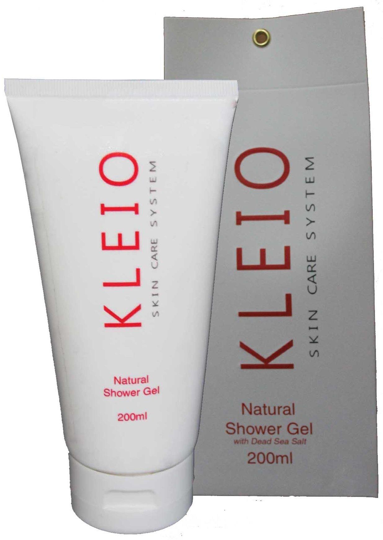 Natural Shower Gel with Dead Sea Salt KleioKleio<br>Гель для душа, очищающий, увлажняющий, питающий, освежающий,  применяется для волос и тела; тщательно и в тоже время мягко очищает, одновременно увлажняя и питая; придает коже ощущение гладкости и вид бархатистости; отлично освежает и снимает стрессовое состояние кожи; при многократном применении кожа становится более упругой и принимает естественное более здоровое состояние; содержит натуральные природные соли и минералы Мертвого моря.<br>        <br>Гель для душа, очищающий, увлажняющий, питающий, освежающий,&amp;nbsp; применяется для волос и тела; тщательно и в тоже время мягко очищает, одновременно увлажняя и питая; придает коже ощущение гладкости и вид бархатистости; отлично освежает и снимает стрессовое состояние кожи; при многократном применении кожа становится более упругой и принимает естественное более здоровое состояние; содержит натуральные природные соли и минералы Мертвого моря<br>В состав геля входят натуральные природные активные вещества, минералы и соли Мертвого моря. Он тщательно очищает и увлажняет кожу, обогащает ее полезными веществами, а также освобождает поры от излишек кожного жира и грязи с множеством химических и биологических патогенов. В результате поры эпидермиса открываются и улучшается поступление кислорода. Кожа вновь приобретает естественный здоровый вид, появляется ощущение гладкости и легкости.<br>В дальнейшем быстро восстанавливается слой кислотной защитной мантии на поверхности рогового слоя эпидермиса и выравнивается Ph баланс кожи. Влага дольше сохраняется в слоях эпидермиса и восстанавливается гидробаланс, а это в свою очередь приводит к улучшению метаболизма и повышению иммунного ответа кожи.<br>Подходит для всех типов кожи.<br>Способ применения: равномерно нанести на влажную кожу обильно вспенив, затем смыть водой.<br>Лечебно-профилактический эффект:&amp;nbsp;После длительного применения у многих людей наблюдалось исчезновение таких кожных заболеваний как экзема и раздраже