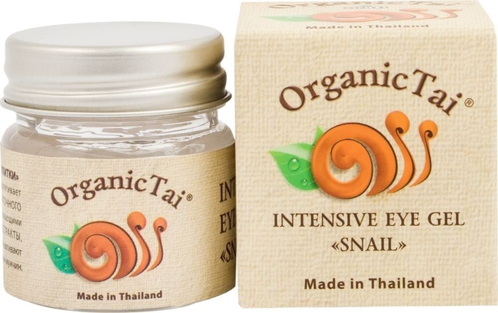 Улитка Organic TaiOrganic Tai<br>Производство: Россия Уменьшает темные круги и отеки вокруг глаз, подтягивает и омолаживает кожу век благодаря экстракту УЛИТОЧНОГО муцина и НАТУРАЛЬНЫМ РАСТИТЕЛЬНЫМ ЭКСТРАКТАМ.<br>Способ применения: массирующими движениями нанести небольшое количество крема на чистую кожу век.<br>Состав:aqua, glycerin, butylene glycol, peg-40 hydrogenated castor oil, triethanolamine, caprylyl glycol, panthenol, snail extract, aesculus hippocastanum extract, tannic acid, musa sapientum (banana) fruit extract, pyrus cydonia fruit extract, punica granatum extract, cymbidium grandiflorum flower extract (orchid), nymphaea lotus flower extract, litchi chinensis fruit extract, morinda citrifolia extract (noni), actinidia chinensis fruit extract (kiwi), carica papaya (papaya) fruit extract, cucumis sativus fruit extract (cucumber), centella asiatica extract, psidium guajava fruit extract, curcuma longa (turmeric) root extract, alpinia galanga rhizome extract, garcinia mangostana peel extract, hydrolyzed collagen, acrylates/c10-30 alkyl acrylate crosspolymer, caprylhydroxamic acid<br><br>Линейка: Улитка Organic Tai<br>Объем мл: 30<br>Пол: Женский