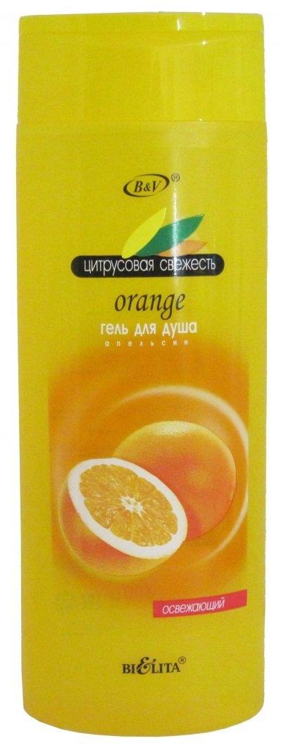 Апельсин БелитаБелита<br>Гель-душ окунает в мир фруктовой свежести и придает коже аромат спелого апельсина. Масло и экстракт апельсина увлажняют кожу, снижают вероятность возникновения целлюлита и оказывают антисептическое действие.<br>        <br>&amp;laquo;Поселившись&amp;raquo; в вашей ванной комнате, гель для душа &amp;laquo;Апельсин&amp;raquo; торговой марки Bielita наполнит ее теплыми привлекательными красками и восхитительным цитрусовым ароматом, который не спутаешь ни с чем. Превращаясь в обильную душистую пену, гель дарит ощущение восторга и радости. Аромат спелого апельсина повышает общий тонус, поднимается настроение. В составе средства присутствуют масло и экстракт всеми любимого фрукта, которые способны снять напряжение в мышцах, убрать раздражение и сухость, а также выравнивают тон кожи.<br>Апельсиновый гель от Bielita прекрасно ухаживает даже за самой чувствительной кожей. Он увлажняет и смягчает ее, придавая гладкость, бархатную нежность и неописуемый тонкий аромат. При помощи его ваш день наполнится яркими и сочными красками, как сам апельсин.<br> Способ применения: нанести на влажную кожу, нежно помассировать, затем ополоснуть водой.<br>Состав: вода, лауретсульфат натрия, Кокамидопропиламиноксид, кокамид ДЭА, кокобетаин, Кокамидопропилбетаин, лауретсульфосукцинат динатрия, хлорид натрия, поликватерниум-39, парфюмерная композиция, кислота лимонная, ЭДТА динатрия, бензиловый спирт, метилхлоризотиазолинон, метилизотиазолинон, Экстракт плодов Citrus Aurantium Dulcis (апельсина), масло Citrus Aurantium Dulcis (апельсина), CI 19140, CI 15985, лимонен, линалол.<br><br>Линейка: Апельсин Белита<br>Объем мл: 400<br>Пол: Женский
