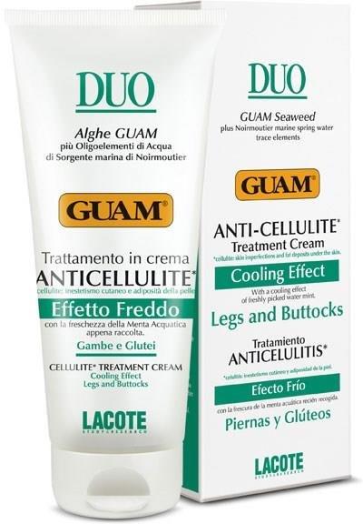 Duo GuamGuam<br>Производство: Италия Благодаря  красным водорослям и натуральным активным компонентам уменьшает жировые  отложения и целлюлит. Интенсивно увлажняет, смягчает и восстанавливает  упругость кожи.<br>        <br>Благодаря красным водорослям и натуральным активным компонентам уменьшает жировые отложения и целлюлит. Интенсивно увлажняет, смягчает и восстанавливает упругость кожи. При регулярном пользовании крема устраняет признаки целлюлита, восстанавливает упругость и эластичность кожи.<br>Способ применения: наносить массажными движениями на проблемные зоны до полного впитывания. Использовать при сосудистой патологии.<br>Активные компоненты: экстракт красной водоросли Gelidium cartilagineum, ментол, масло рисовых отрубей, морская вода Нуармутье, гликозаминогликаны.<br>Меры предосторожности: Не использовать при ломкости сосудов. Избегать попадания продукта на слизистые, не использовать на повреждённой коже. После нанесения необходимо вымыть руки.<br><br>Линейка: Duo Guam<br>Объем мл: 200<br>Пол: Женский