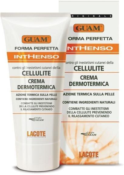 Inthenso GuamGuam<br>Производство: Италия Обладает разогревающим действием , что способствует усилению местного кровообращения, нормализации микроцеркуляции и обмена веществ в проблемной зоне, стимуляции расщепления жиров. Благодаря своей тестуре подходит для проведения непродолжительного массажа, что усиливает действие крема.<br>Активные компоненты: экстракты водорослей GUAM, розмарина, японской софоры, карнитин, масло жожоба, метилникотинат.<br>Способ применения: Применяется для проведения непродолжительного массажа, усиливающего действие крема.<br>Меры предосторожности: Не использовать при ломкости сосудов. Избегать попадания продукта на слизистые, не использовать на повреждённой коже. После нанесения необходимо вымыть руки.<br><br>Линейка: Inthenso Guam<br>Объем мл: 200<br>Пол: Женский