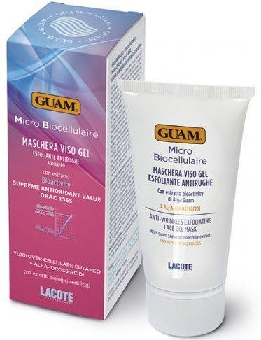 Micro Biocellulaire GuamGuam<br>Производство: Италия Плёночная Маска-скраб для лица Micro Biocellulaire - Питает, разглаживает и глубоко увлажняет кожу, возвращая жизненную силу и яркость лица. Высокая концентрация альфа-гидроксикислот способствует восстановлению клеток эпидермиса, уменьшает темные пятна, а экстракт планктона, экстракт алоэ, страстоцвет и черная смородина восстанавливают и увлажняют кожу. Высоко эффективное средство для борьбы с морщинами.<br>Экстракт Bioactivity ламинарии пальчаторассеченной, альфа-гидроксикислоты (гликолиевая, миндальная, молочная, винная и лимонная), морской планктон, органический экстракт алоэ, органическая пассифлора, органический экстракт черной смородины.<br>Способ применения: нанесите тонкий равномерный слой маски на все лицо, избегая области вокруг глаз. Оставьте примерно на 20 минут или до полного высыхания, затем удалить плёночную маску. Для более интенсивной терапии нанесите равномерный обильный слой продукта и оставьте на 35 минут.&amp;nbsp;Продукт может иметь различный цвет, что объясняется наличием красителей натурального происхождения в составе. Такие изменения никак не влияют на качество маски.&amp;nbsp;Избегать контакта с глазами и слизистой оболочкой.&amp;nbsp;Не подвергайте кожу солнечному воздействию после применения.<br><br>Линейка: Micro Biocellulaire Guam<br>Объем мл: 75<br>Пол: Женский