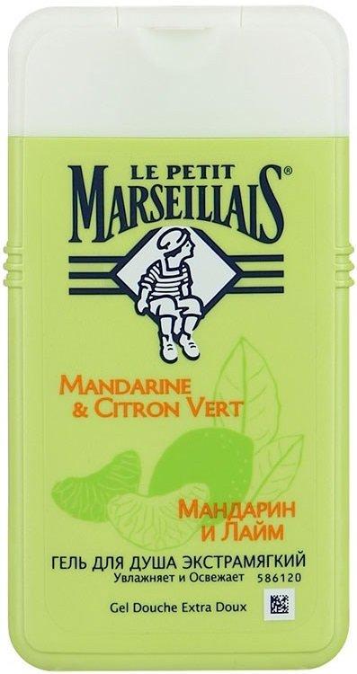 Le Petit MarseilliasLe Petit Marseillias<br>Гель для душа с мандарином и лаймом мягко помогает мягко очистить кожу, подарив ей тонкий цитрусовый аромат. Средство имеет нейтральный pH. Кроме того, оно протестировано дерматологами. Формула не содержит парабенов.<br>Эффект: благодаря экстрамягкой формуле гель для душа с лаймом и мандарином нежно очищает кожу, оставляя на ней восхитительный сладкий аромат. После использования средства ваша кожа становится более мягкой и увлажненной. Гель способствует тонизированию благодаря ярким цитрусовым ноткам. Пена получается легкой и быстро смывается обычной проточной водой.<br>Способ применения: нанесите гель для душа&amp;nbsp;&amp;laquo;Мандарин и лайм&amp;raquo; на влажное тело, аккуратно вспеньте и смойте.<br>Ингредиенты:компоненты богаты витамином C и наделены тонизирующими свойствами.&amp;nbsp;Мандарины&amp;nbsp;широко известны благодаря своему фруктовому игристому аромату. Сбор плодов осуществляется вручную под щедрым солнцем Средиземноморья. Кисловатый сочный&amp;nbsp;лайм&amp;nbsp;&amp;ndash; настоящий уроженец Корсики &amp;ndash; выращивается на экофермах. Фруктовые оттенки прекрасно объединяются в композицию с базовыми древесно-мускусными нотами. Моющая основа имеет растительное происхождение и с легкостью распадается на компоненты.<br><br>Линейка: Le Petit Marseillias<br>Объем мл: 250<br>Пол: Женский