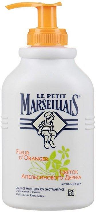 Le Petit MarseilliasLe Petit Marseillias<br>Жидкое мыло с дозатором Le Petit Marseillais благоухает весенним ароматом цветков апельсинового дерева. Оно деликатно очищает и увлажняет кожу рук. Мыло образует густую, приятную на ощупь пену и хорошо смывается.<br>        <br>Жидкое мыло с дозатором Le Petit Marseillais благоухает весенним ароматом цветков апельсинового дерева. Оно деликатно очищает и увлажняет кожу рук.<br>Эффект: мыло образует густую, приятную на ощупь пену и хорошо смывается. Оно помогает сделать вашу кожу более мягкой и ухоженной.<br>Благоухающие белые цветки апельсинового дерева собирают под знойным средиземноморским солнцем в период с апреля по июнь, чтобы затем извлечь из них экстракт. Он пользуется большой популярностью в косметологии.<br>Ингредиенты:цветы апельсинового дерева&amp;nbsp;&amp;ndash; ценный компонент многих косметических средств, известный благодаря своим успокаивающим свойствам. Нежный аромат придает ощущение свежести.<br><br>Линейка: Le Petit Marseillias<br>Объем мл: 300<br>Пол: Женский