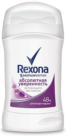 RexonaREXONA<br>Антиперспирант-карандаш Rexona Абсолютная уверенность с технологией Motionsense защищает от запаха и пота 48 часов. Насладись захватывающим цветочно-цитрусовым ароматом с ориентальными нотками пачули, ванили и сливово-персиковым акцентом. Защищает от пота и запаха на 48 часов Содержит формулу Motionsense с микрокапсулами Непрерывное ощущение свежести с утра и до вечера Чем больше ты двигаешься - тем больше ты защищен Ты хочешь чувствовать свежесть и защиту и хочешь быть уверенной в каждом своем движении. Тогда тебе нужен антиперспирант длительного действия Rexona «Абсолютная защита» с искрометными нотками грейпфрута и яблока. Вместе с защитой от пота и запаха в течение 48 часов технология Motionsense дарит тебе непревзойдённое ощущение свежести. Микрокапсулы, нанесенные на поверхность кожи, раскрываются при каждом движении, высвобождая свежий искрометный аромат. Ты создана для движения. Теперь у тебя есть антиперспирант, который сможет подстроиться под ритм твоей жизни. Будь уверена, Rexona никогда не подведет! Способ применения: поверните основание контейнера и проведите «карандашом» по чистой и сухой коже подмышек. Состав:Cyclopentasiloxane, Aluminum Zirconium Tetrachlorohydrex GLY, Stearyl Alcohol, C12-15 Alkyl Benzoate, PPG-14 Butyl Ether, Hydrogenated Castor Oil, Parfum, Polyethylene, BHT, Caprylic/Capric Triglyceride, Gelatin Crosspolymer, Cellulose Gum, Sodium Benzoate, Aqua, Hydrated Silica, Sodium Starch Octenylsuccinate, Maltodextrin, Hydrolyzed Corn Starch, Silica, Citral, Hexyl Cinnamal, Limonene, Linalool.<br><br>Линейка: Rexona<br>Объем мл: 40<br>Пол: Женский