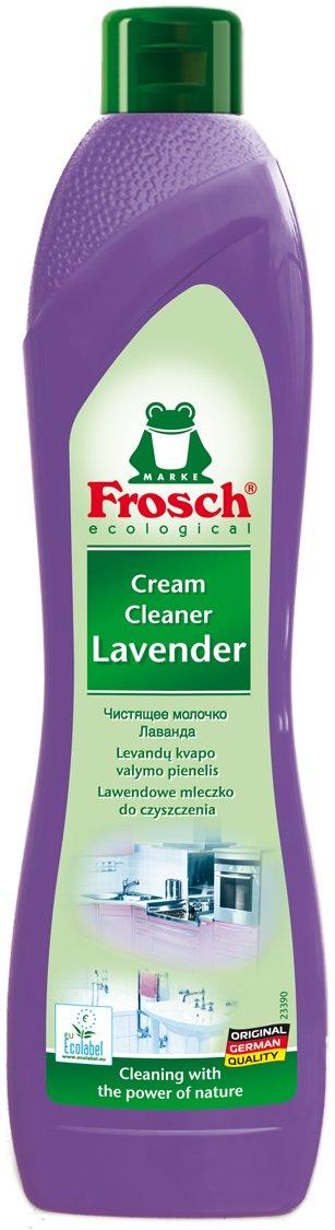 FroshFrosh<br>Производство: Германия Чистящее молочко Лаванда Frosch благодаря высокой очищающей силе натуральной мраморной муки и гигиеническим свойствам лаванды эффективно очищает, оставляя приятный свежий аромат лаванды. Оптимально устраняет любые виды грязи на кухне и в ванной комнате, например, жир, известковый налет и остатки мыла. Чистящее молочко Лаванда Frosch благодаря высокой очищающей силе натуральной мраморной муки и гигиеническим свойствам лаванды эффективно очищает, оставляя приятный свежий аромат лаванды: Оптимально устраняет любые виды грязи на кухне и в ванной комнате, например, жир, известковый налет и остатки мыла; Состав благодаря мраморной муке тонкого помола и гигиеничному действию лаванды интенсивно очищает, оставляя приятный свежий аромат; Идеально подходит для керамики, эмали, нержавеющей стали и стеклянных поверхностей, а также варочных поверхностей электрических и стеклокерамических плит; Не раздражает кожу и не разъедает материал. Способ применения: нанести на поверхность мягкой тряпкой или губкой, потереть. Не использовать железную мочалку или очень жесткую губку, которая может поцарапать поверхность. Состав:&lt; 5% неионогенных ПАВ, отдушки. Прочие компоненты: мраморная мука и лавандовое масло.<br><br>Линейка: Frosh<br>Объем мл: 500<br>Пол: Унисекс