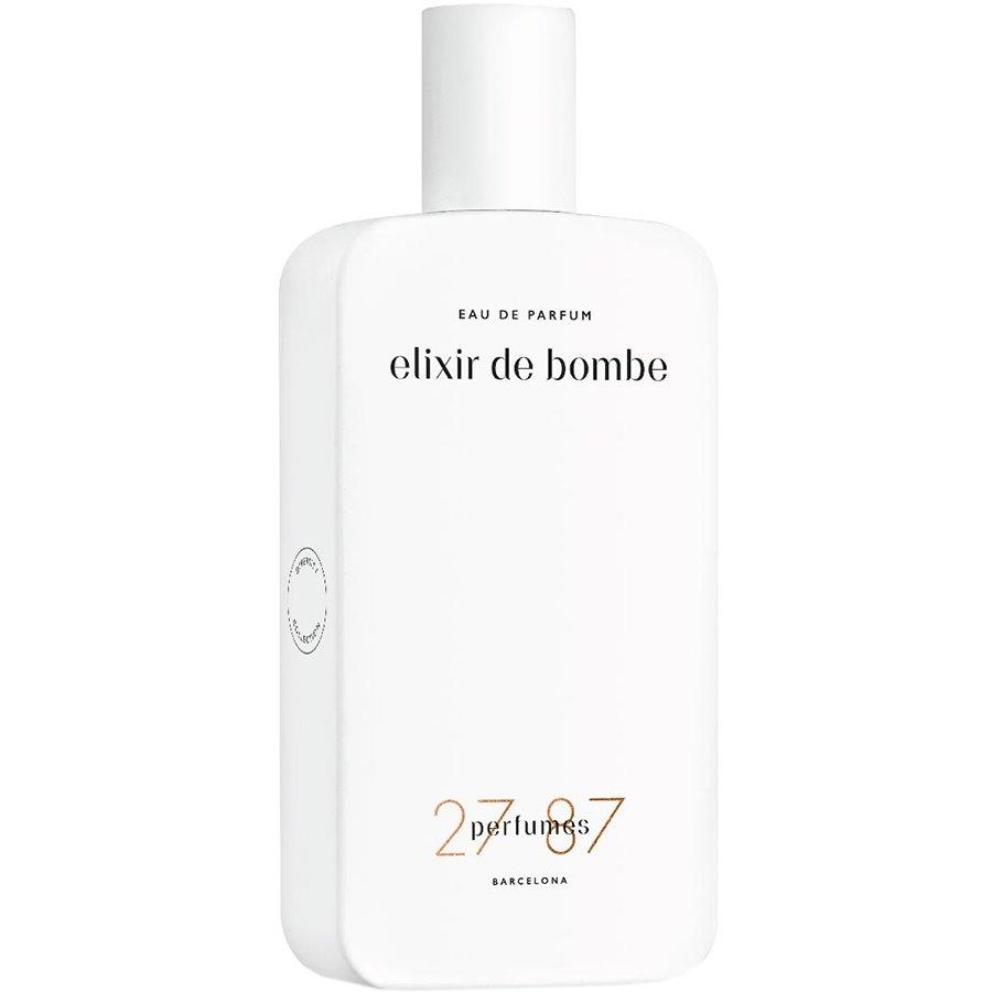 Elixir de Bombe27 87 Perfumes<br>Год выпуска: 2016 Производство: Испания Семейство: цветочные фруктовые сладкие Верхние ноты:  Танжерин, Красный перец, Имбирь Средние ноты:  иланг-иланг, Скалистая роза, Малина Базовые ноты:  Карамель, кожа,  Амбра Elixir de Bombe 27 87 &amp;mdash; это аромат для мужчин и женщин, он принадлежит к группе цветочные фруктовые сладкие. Это новое издание: Elixir de Bombe выпущен в 2016 году. Парфюмер: Mark Buxton. Верхние ноты: Танжерин, Красный перец и Имбирь; средние ноты: Иланг-иланг, Скалистая роза и Малина; базовые ноты: Карамель, Кожа и Амбра.<br><br>Линейка: Elixir de Bombe<br>Объем мл: 87<br>Пол: Унисекс<br>Аромат: цветочные фруктовые сладкие<br>Ноты: Танжерин, Красный перец, Имбирь,  иланг-иланг, Скалистая роза, Малина,  Карамель, кожа,  Амбра<br>Тип: парфюмерная вода<br>Тестер: нет