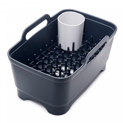 Набор из 3 предметов для мойки и сушки посуды (таз, сушилка, подставка для столовых приборов) серый 0 мл (унисекс)