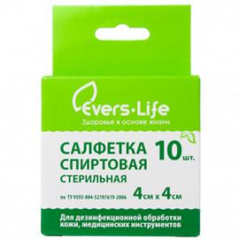 Салфетка спиртовая Evers+life 40957 фото