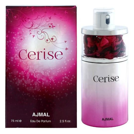 CeriseAjmal<br>Производство: Объединённые Арабские Эмираты Cerise от Ajmal - это аромат для женщин, принадлежит к группе ароматов цитрусовые сладкие, выпущен в 2015 году. Композиция аромата включает ноты: апельсин, дыня, зеленое яблоко, клубника, кокос, сахар, амбра, ваниль и мускус.<br><br>Линейка: Cerise<br>Объем мл: 75<br>Пол: Женский