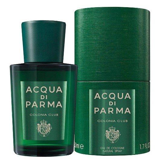 Colonia ClubAcqua Di Parma<br>Производство: Италия Colonia Club Acqua di Parma - это аромат для мужчин и женщин, принадлежит к группе ароматов древесные фужерные. Этот аромат выпущен в 2015 году. Верхние ноты: Бергамот, Цитрусы, Петит-грейн, мандарин, Мята и Нероли; ноты сердца: Герань, Лаванда и Гальбанум; ноты базы: Серая амбра, Мускус и ветивер с Таити.<br><br>Линейка: Colonia Club<br>Объем мл: 50<br>Пол: Унисекс