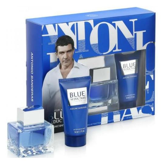 Antonio Banderas Blue Seduction (туал. вода 50 + бальзам после бритья 50) мл (муж)