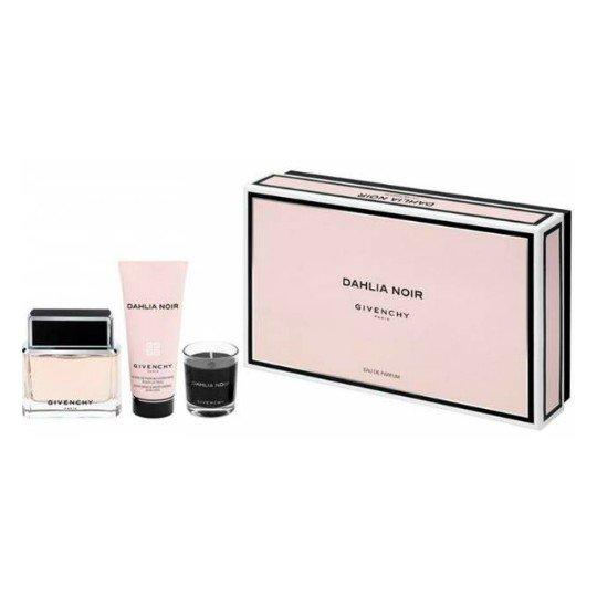 Givenchy Dahlia Noir (туал.духи 50 + лосьон д/тела 75 + свеча 32 (гр) мл (жен)