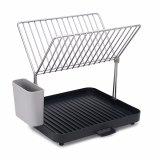 Сушилка для посуды и столовых приборов 2-уровневая со сливом y-rack серая 21631 фото