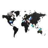 Пазл «Карта мира» черная 100х60 см new 23792 фото