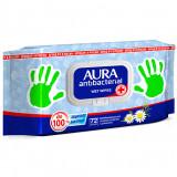 Влажные салфетки антибактериальные Aura - ромашка  фото