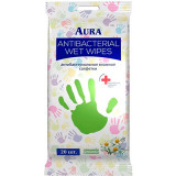 Влажные салфетки антибактериальные Aura - ромашка  35741 фото